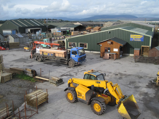 Photograph of the yard at Penkiln Timber and Builders Merchants